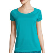 Made for Life™ Short-Sleeve Shirt Tail Mesh Raglan Tee