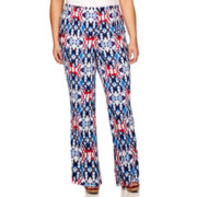 Alyx® Floral Printed Palazzo Pants - Plus