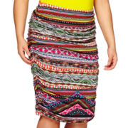 Bisou® Shirred Tube Pencil Skirt - Plus