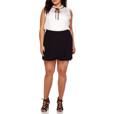 jcpenney.com | Boutique™ Sleeveless Tie-Front Blouse, Wrap-Front Skort or Short-Sleeve, Button-Front Shirt - Plus