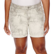 a.n.a® Rolled Cuff Denim Shorts - Plus