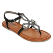 Arizona Ginger Rhinestone Flat Sandals
