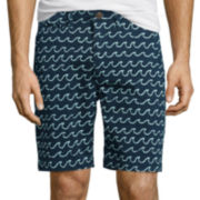 Arizona Surfer Prep Print Flat Front Flex Shorts
