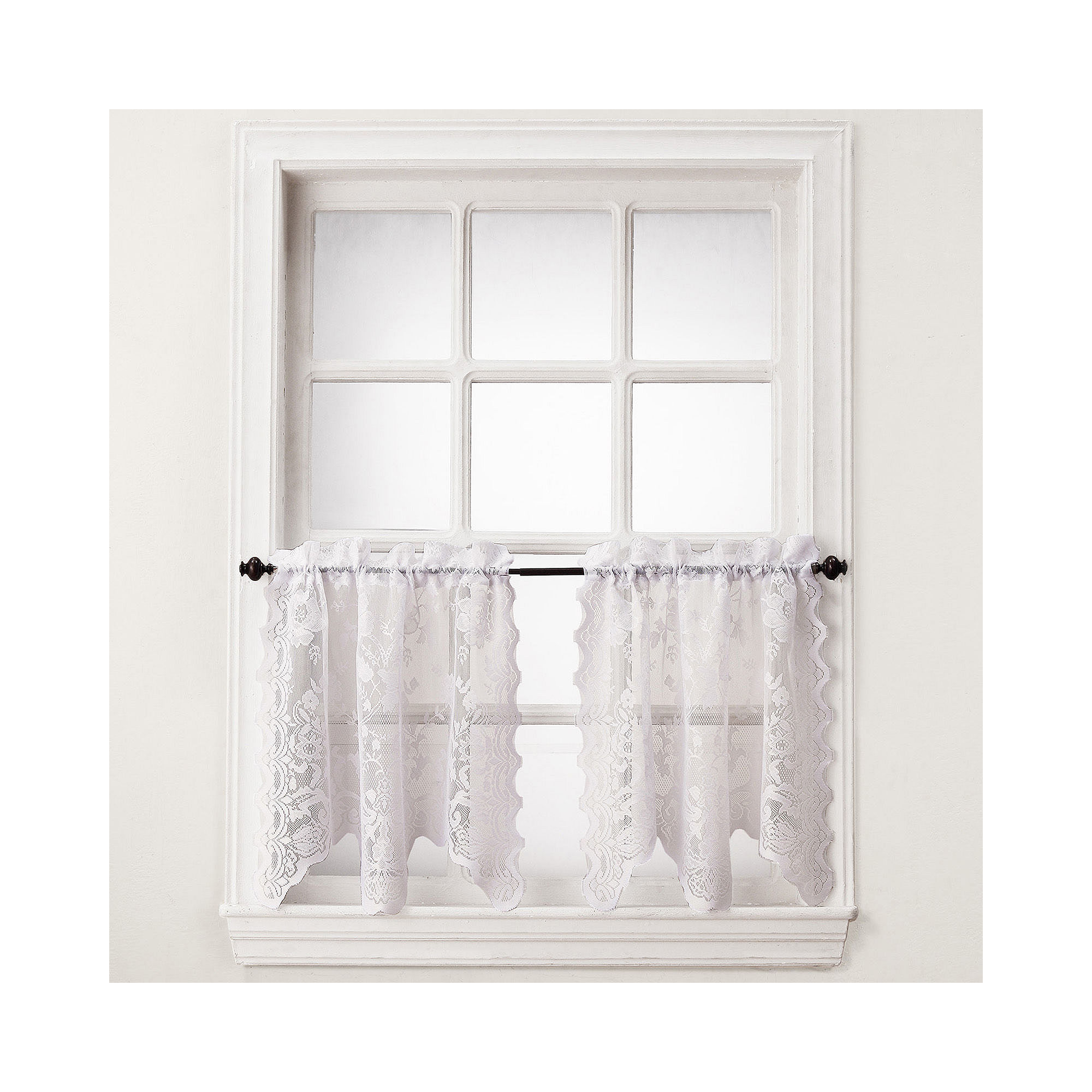 essential home coraline lace window tier curtain