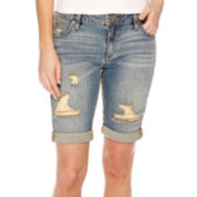 a.n.a® Cuffed Denim Bermuda Shorts - Petite