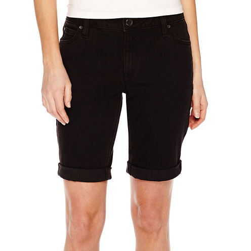 a.n.a® Cuffed Denim Bermuda Shorts - Petite