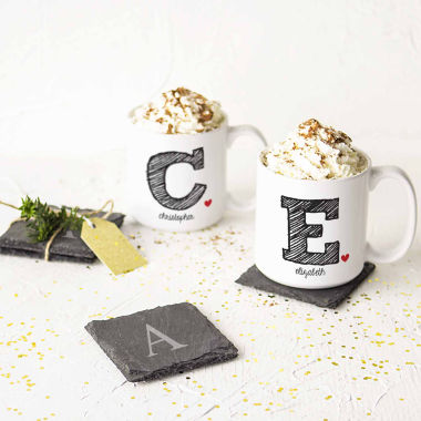 jcpenney.com | Cathy's Concepts Initial Set of 2 Personalized Large Coffee Mugs