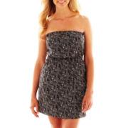 a.n.a® Strapless Print Dress - Petite