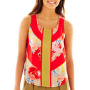 Print High-Low Sleeveless Top