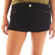 Decree® Studded Cutoff Shorts
