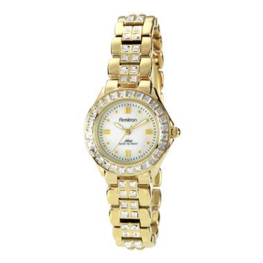 jcpenney.com | Armitron® Now® Womens Crystal-Accent Gold-Tone Brass Watch
