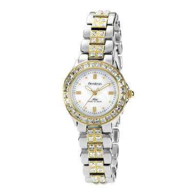 jcpenney.com | Armitron® Now® Womens Crystal-Accent Two-Tone Brass Watch