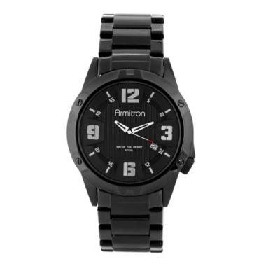 jcpenney.com | Armitron® All Sport Mens Black Stainless Steel Bracelet Watch