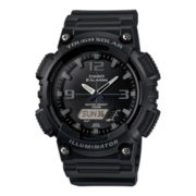 Casio® Mens Black Dial Black Resin Strap Analog/Digital Solar Sport Watch