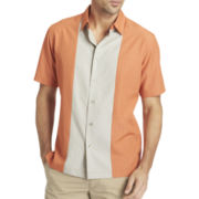 Van Heusen® Short-Sleeve Paneled Shirt