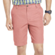 IZOD® Saltwater-Washed Flat-Front Shorts