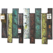 Offset Wine Wall Rack