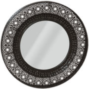 Ornate Round Wall Mirror