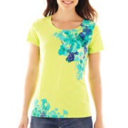 St. John's Bay® Short-Sleeve Screen Tee - Tall