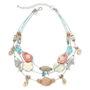 Aris by Treska Sea Life Multi-Row Necklace