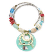 Aris by Treska Sea Life Coil Pendant Necklace