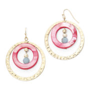 Aris by Treska Sea Life Shell Hoop Earrings