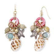 Aris by Treska Sea Life Shell Cluster Drop Earrings