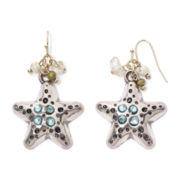 Aris by Treska Sea Life Starfish Drop Earrings