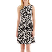 Alyx® Sleeveless Polka Dot Fit-and-Flare Dress