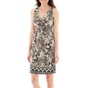 St. John's Bay® Sleeveless Floral Print Dress