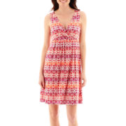 St. John's Bay® Sleeveless Aztec Print Dress