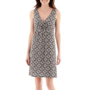 St. John's Bay® Sleeveless Medallion Print Dress