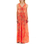 St. John's Bay® Sleeveless Tiered Maxi Dress