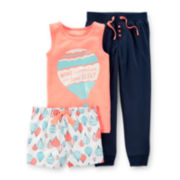 Carter's® 3-pc. Pajama Set - Preschool Girls 4-7