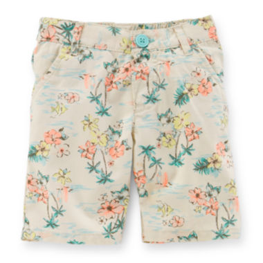 jcpenney.com | Carter's® Tropical-Print Bermuda Shorts - Toddler Girls 2t-5t