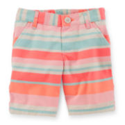 Carter's® Striped Bermuda Shorts – Toddler Girls 2t-5t