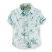 Carter's® Beach-Print Shirt - Toddler Boys 2t-5t