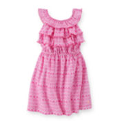 Carter's® Ruffle Geo-Print Dress - Preschool Girls 4-6x