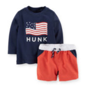 Carter's® 4th of July Tee and Swim Shorts - Baby Boys newborn-24m
