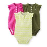 Carter's® 3-pk. Ruffle Bodysuits - Baby Girls newborn-24m