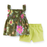Carter's® Tropical-Print Top and Shorts - Baby Girls newborn-24m
