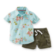 Carter's® Island-Print Shirt and Shorts - Baby Boys newborn-24m