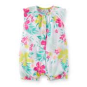 Carter's® Tropical-Print Creeper - Baby Girls newborn-24m