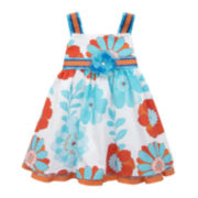 Rare Editions Floral Sateen Ribbon Dress - Toddler Girls 2t-4t