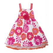 Rare Editions Floral Woven Ribbon Dress - Toddler Girls 2t-4t