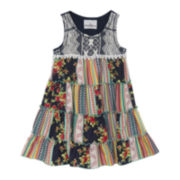 Rare Editions Embroidered-Print Dress - Toddler Girls 2t-4t
