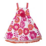 Rare Editions Floral Ribbon Dress - Preschool Girls 4-6x