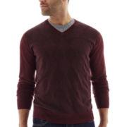 Claiborne® Tonal Argyle Sweater