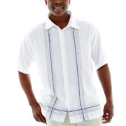 The Havanera Co.® Short-Sleeve Woven Shirt-Big & Tall