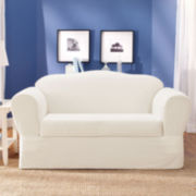 SURE FIT® Cotton Twill 2-pc. Loveseat Slipcover